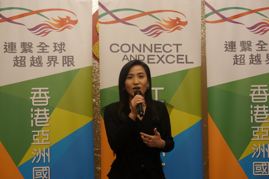 The Hong Kong Economic and Trade Office (Toronto) (HKETO) held a media lunch in Toronto today (February 28) to thank the Toronto media for their support to the work of HKETO, and to introduce the major events to be hosted by HKETO in 2019. Photo shows Director of the HKETO, Ms Emily Mo, delivering a welcome speech.